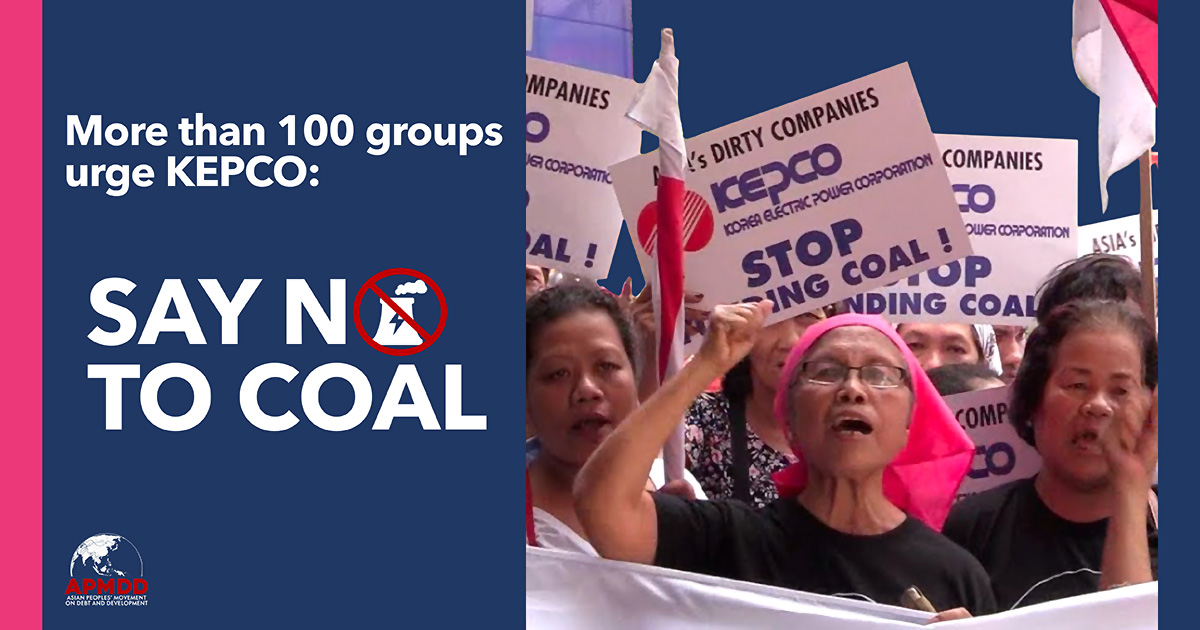 Climate Groups to KEPCO Board: Stop Plans to Finance Overseas Coal
