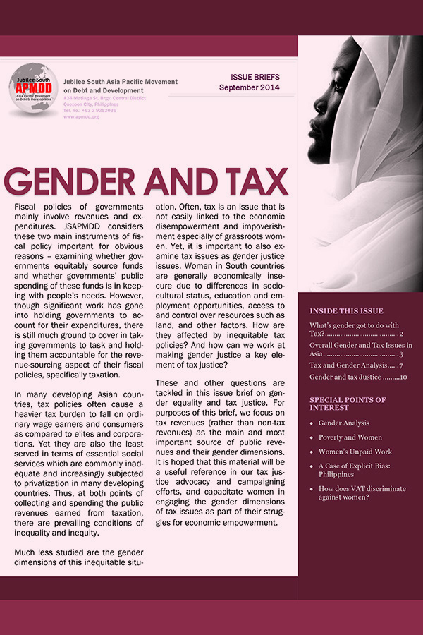 Gender and Tax – Issue Briefs, 2014 Sept