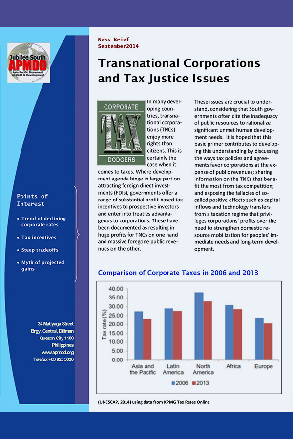 Transnational Corporations and Tax Justice Issues