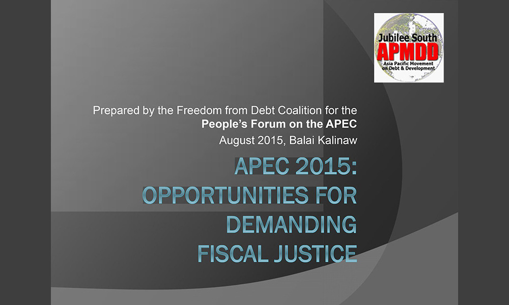 APEC 2015: Opportunities for Demanding Fiscal Justice