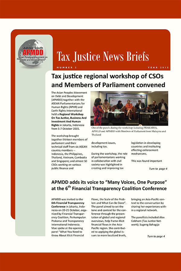 Tax Justice News Briefs, 2015 Issue 2