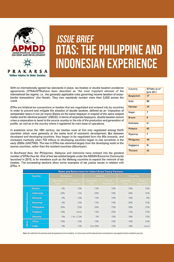 Double Taxation Avoidance Agreements: The Philippine and Indonesian experience