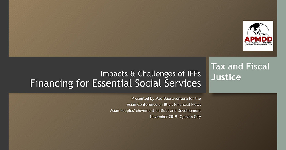 Financing for Essential Social Services - Impacts & Challenges of IFFs