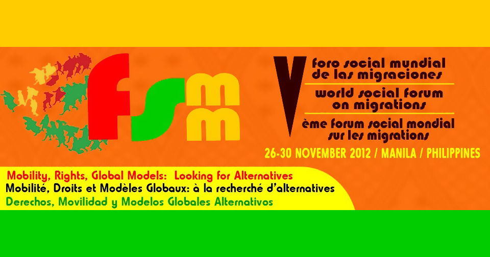 World Social Forum on Migration 2012